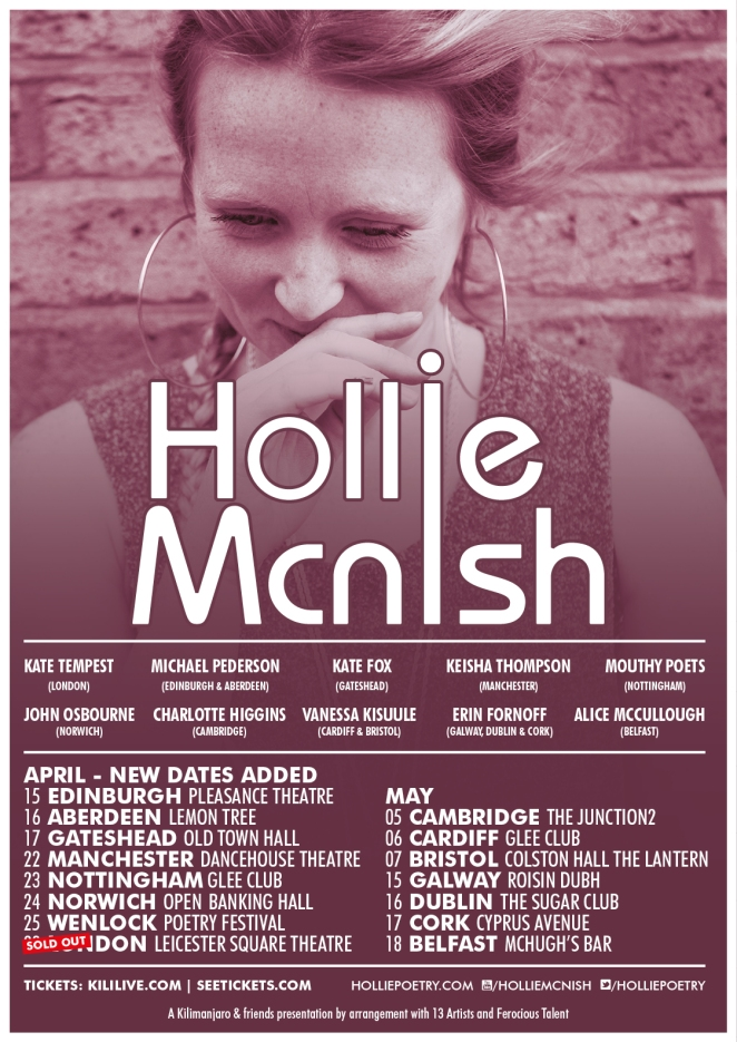 HollieMcNish_Tour LONDON SOLD OUT