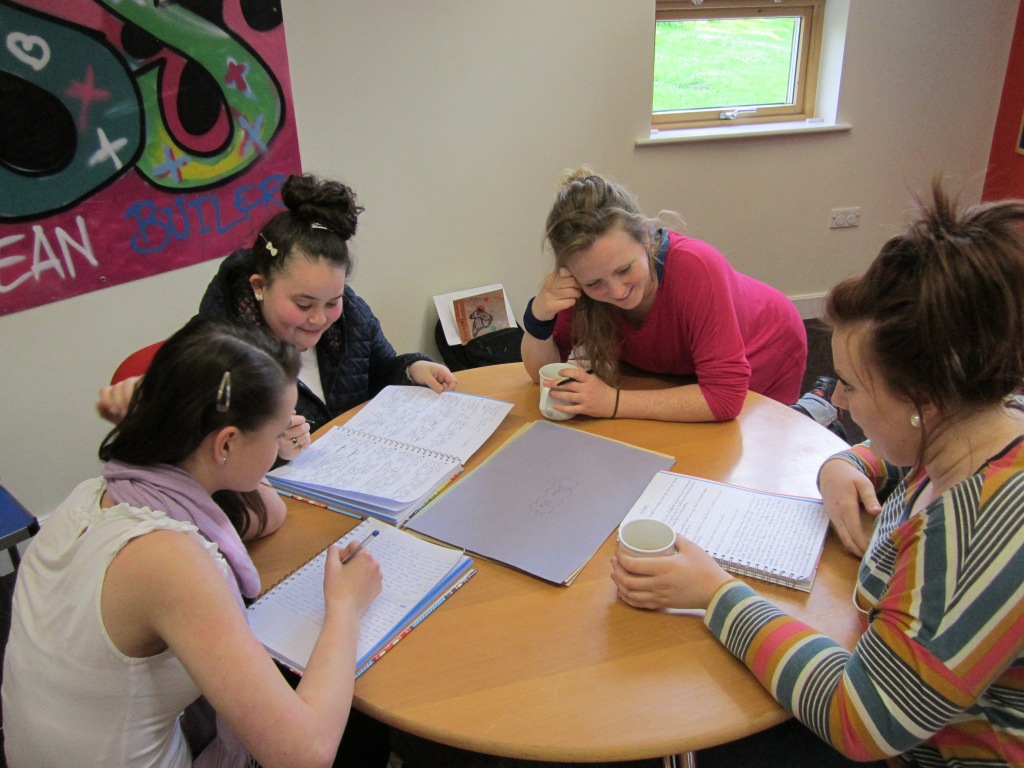 Young female's writing group led by Hollie McNish